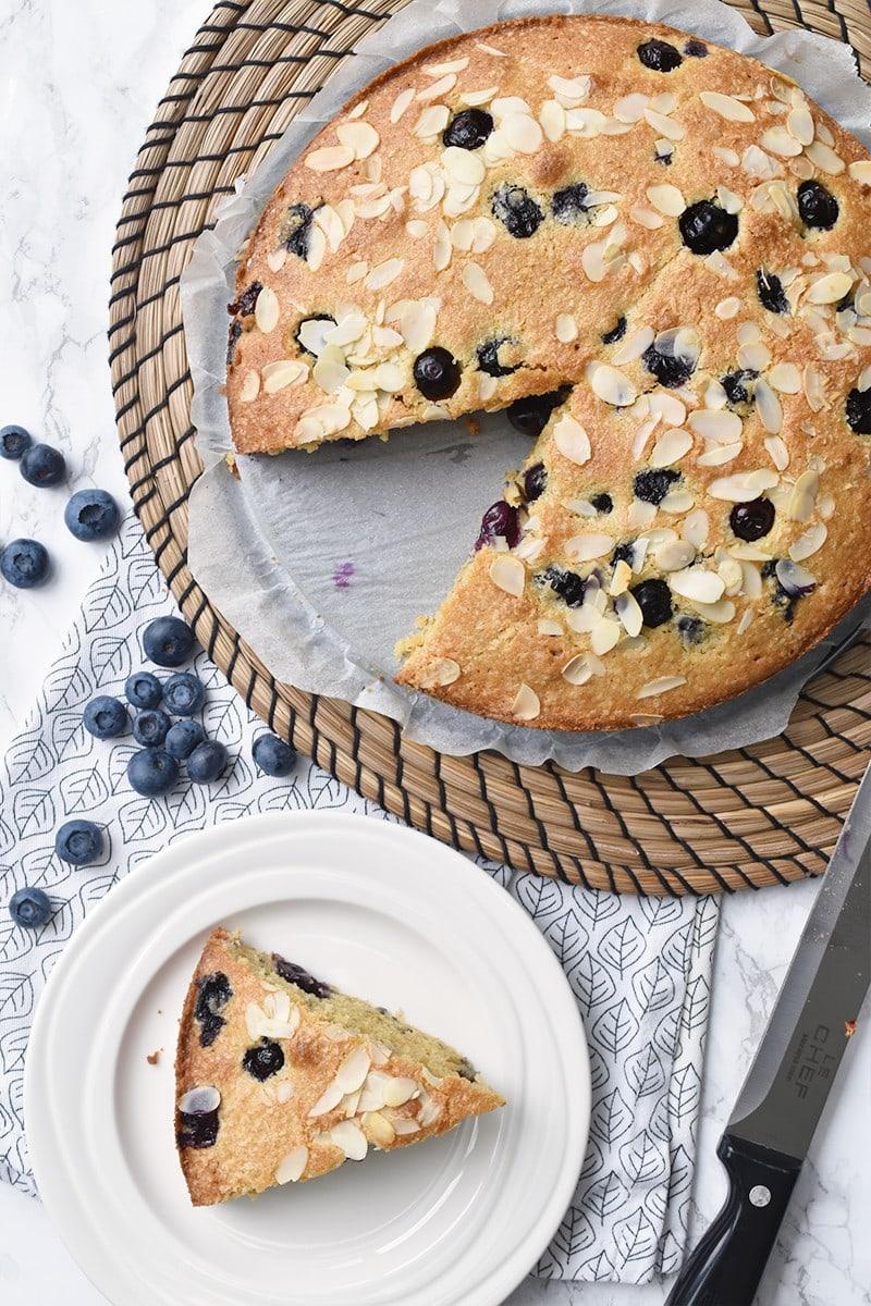 Recept: kokostaart met blauwe bessen