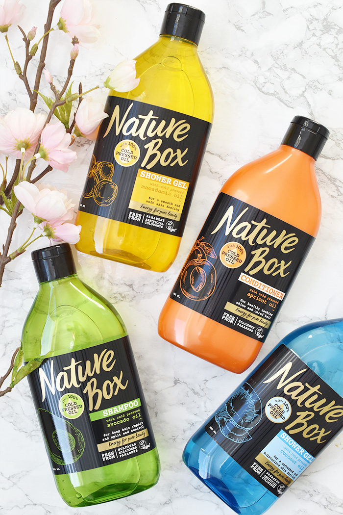 Nature Box Shampoo, Conditioner en Shower Gel