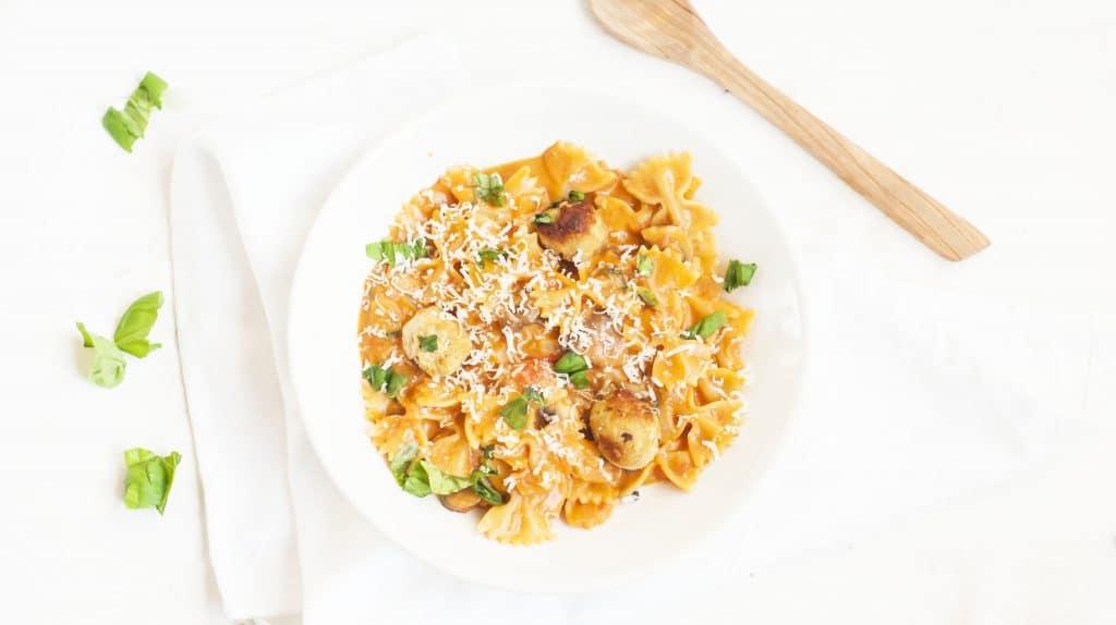 Recept: pasta met kipballetjes
