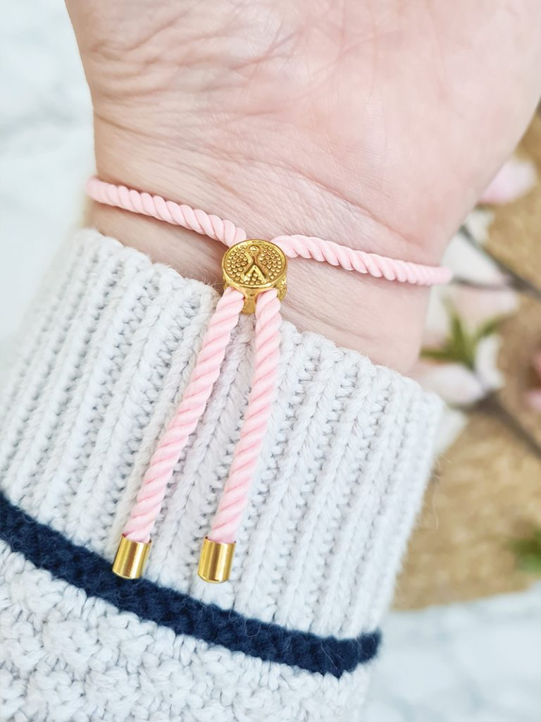 Pink Ribbon Armband Oktober Borstkanker