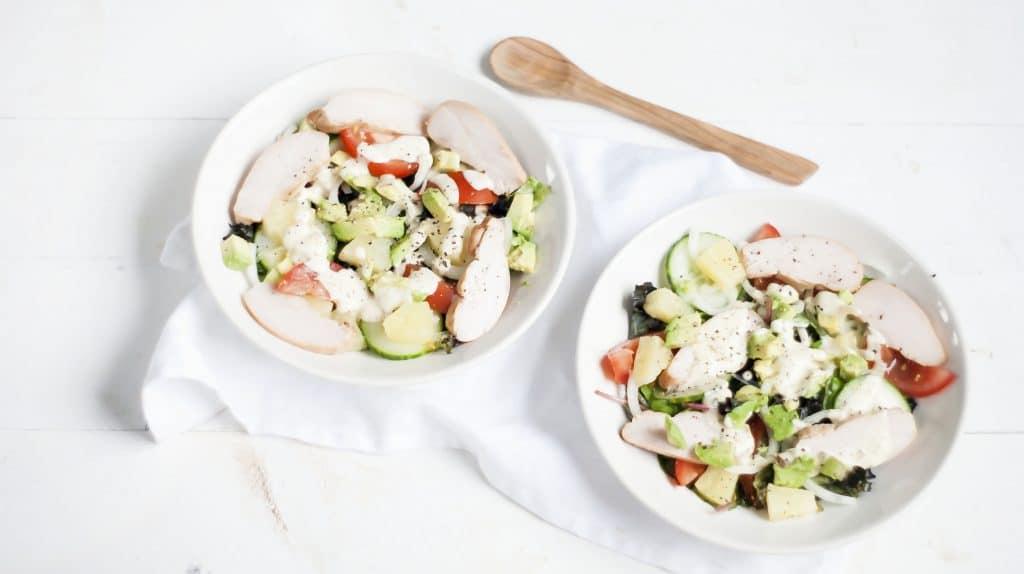 Recept: Salade met gerookte kip