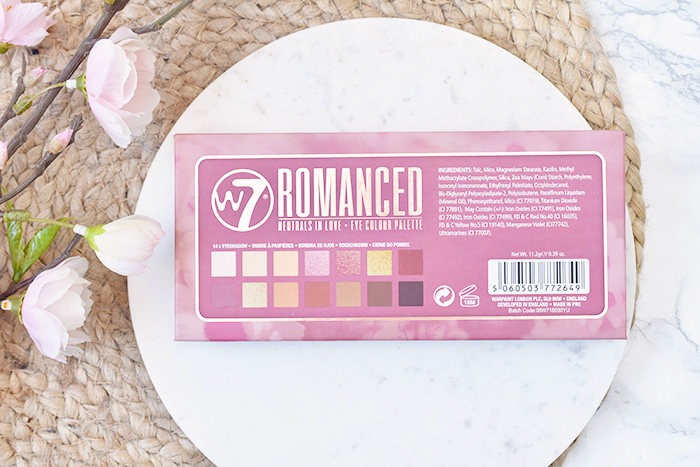 W7 Romanced Neutrals In Love Eye Colour Palette